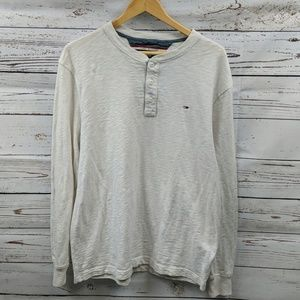 Tommy Hilfiger long sleeve Henley Size Large